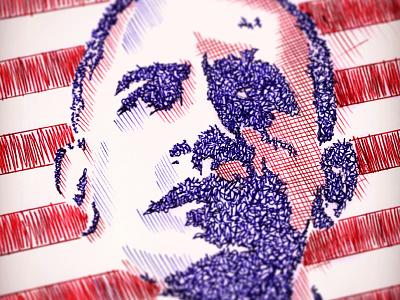 CM's Presidential Sketch barack obama contest creativemarket design drawing illustration ink obama president sketch sketchapres sketching