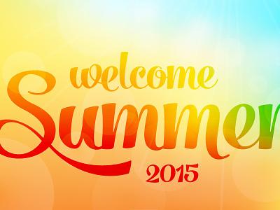 Welcome Summer 2015 typography summertime summer sky script post overlay ornaments icon gradient eyewear beach