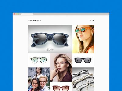 An eyewear shop's website wordpress website web design web sunglasses responsive mobile glasses flat eyewear customization branding