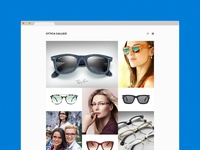 An eyewear shop's website