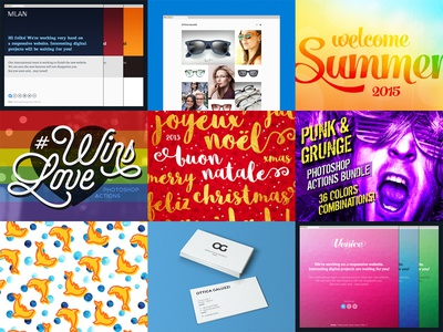 2015 Best Nine! website template summer psd photoshop actions nine icons christmas business card brand identity best atn
