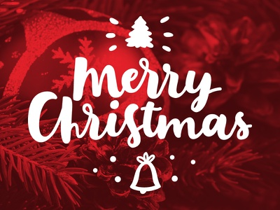 Merry Christmas! xmas typography script red quote post photo overlays lettering handlettering duotone christmas