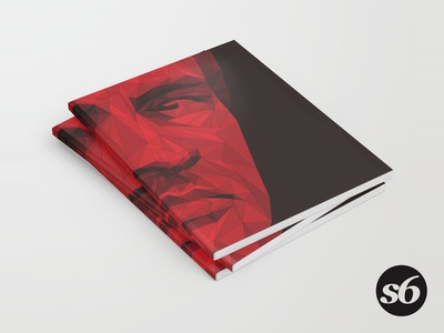 Notebooks in the box! society6 reds poly notebook mourinho manchester united manchester low poly illustration football flat duotone