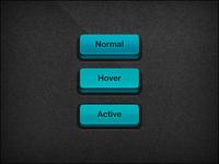 3D button – Blue