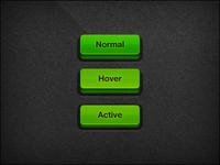 3D button – Green