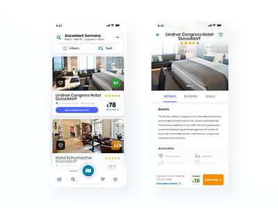 Hotel App - minimal interface°7