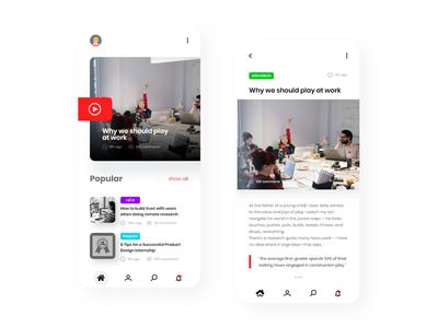 Blog App - minimal interface°8 interface minimal