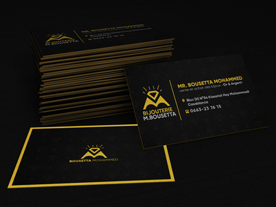 M.Bousetta Jewelry Business card gold business card bousetta jewelry business card