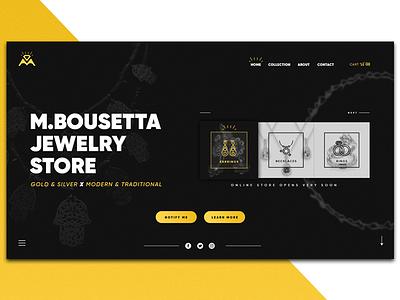 Bousetta Jewelry page landing bousetta jewellery jewelry soon coming website ux ui