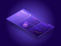 Freebie - Dashboard isometric illustration