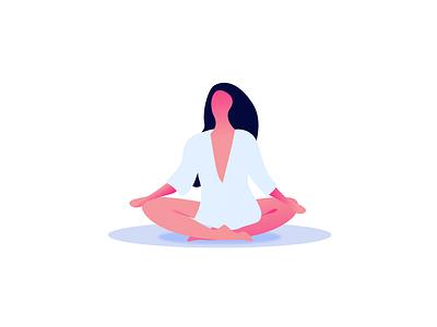 Yoga Time yoga girl illustration
