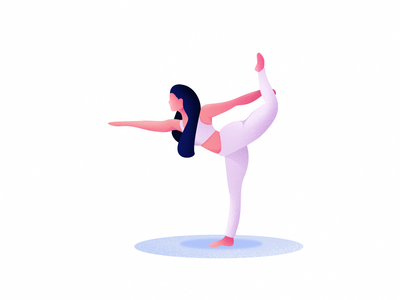 Yoga illustration 2° yoga girl illustration