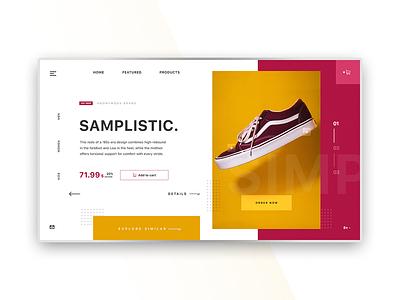 Shoe Store - minimal interface°1 minimalist user interface website