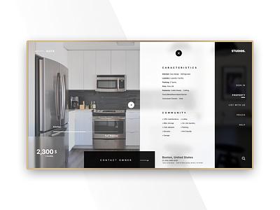 STUDIOS. - minimal interface°02 user interface web design minimalist