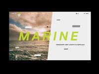F-TEAM Website Preview / Marine