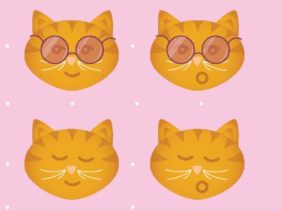 Smiling Kitty Face Sunnies illustrator illustration cat kitty kat sunglasses