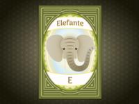 Elephant, child education card