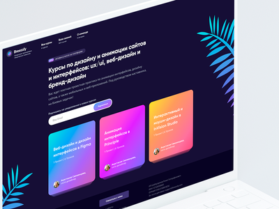 Breezzly – Design Education E-Learning Platform elearning courses elearning web app learning desktop application design ui ux branding app design