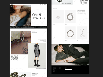 Brand new website for crafted jewelry brand   OMUT typography beauty identity branding personalize