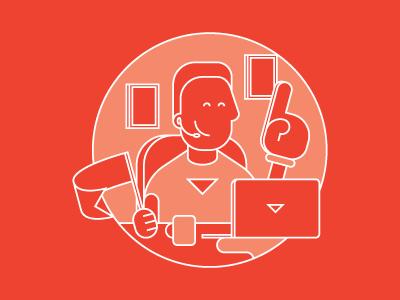 Doodle #2 support work team vector illustration doodle