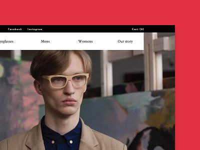 Framed by Karl shop store commerce eyewear user experience user interface ux ui design web design website