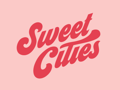 Sweet Cities souvenir city chocolate candy sweet retro lettering logotype logo