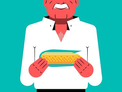 Feria de Murcia — Old man maíz ilustración illustration viejo hombre corn man old feria fair festival