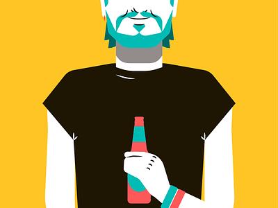 Feria de Murcia — Young man ilustración illustration joven hombre beer cerveza man young feria fair festival