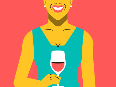 Feria de Murcia — Young woman joven young woman vino wine ilustración illustration mujer festival feria fair