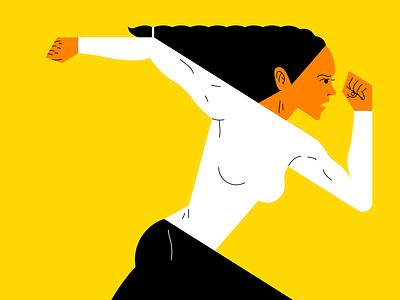 Gala de las mujeres deportistas madrid deporte sport correr run mujer woman vector ilustración illustration