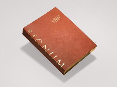 Signum — Cover murcia caravaca estampado oro gold foil cuero leather renacimiento renaissance libro book