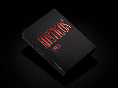 Místicos — Cover catalog catálogo mysticism místicismo book libro foil gold estampado caravaca murcia