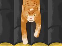 The Cat tejado roof spain ilustración illustration cat gato