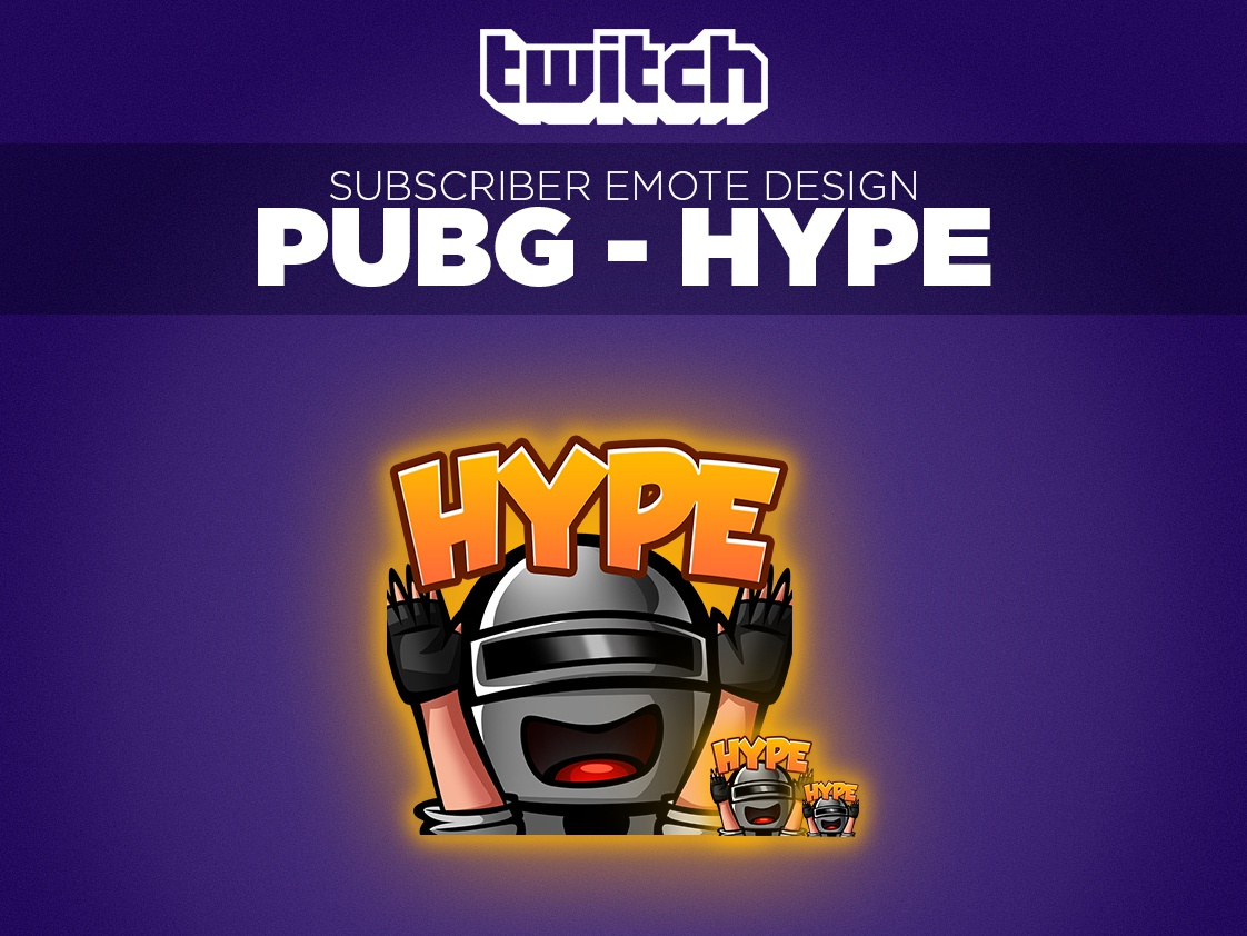 Twitch Sub Emote Pubg Hype by Andy Hanne on Dribbble