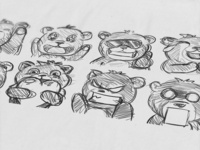 Subemote Sketches Paper Grizzly Bears