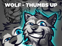 Wolf Illustration - From Sketch to Illustration in 4 Steps