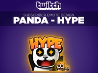 "Twitch Sub Emote Panda ""HYPE"""