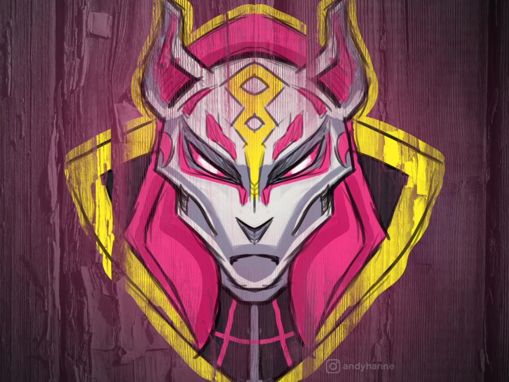 Drift Fortnite Skin Logo Illustration by Andy Hanne on Dribbble