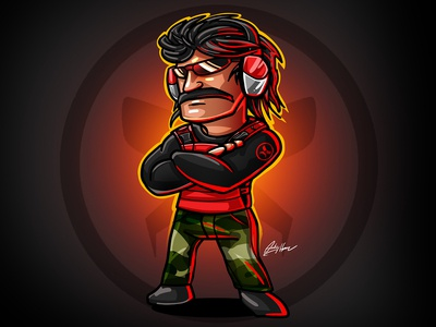DrDisrespect Illustration Process