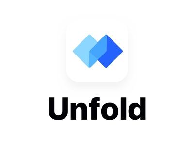 Unfold logo appicon appdesign unfold logo