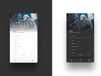 Material Music player UI