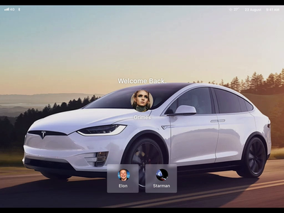 Autonomous driving activation — voice controlled interactive prototype framer studio framer dark assistant elliot car screen dashboard tesla ai
