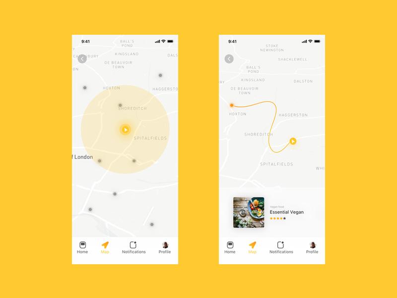 Flare — Map UI app ios map ui maps design ux ignite ui