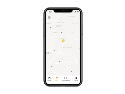 Flare — map interactive prototype.