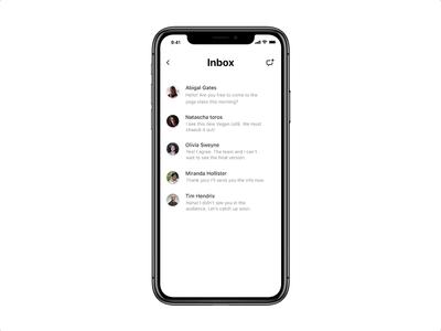 Flare — messenger UI swipe and delete