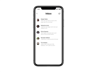 Flare — messenger UI swipe and delete