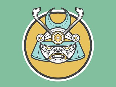 S Samurai picto illustration character design alphabet