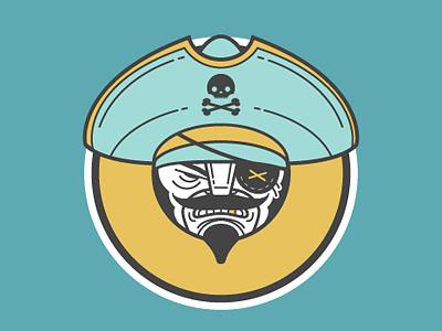 P Pirate picto illustration character design alphabet