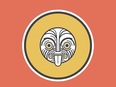 M Maori picto illustration character design alphabet