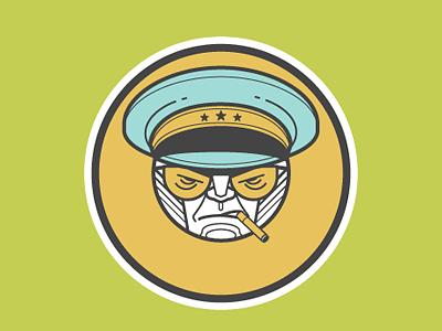 D Dictateur picto illustration character design alphabet
